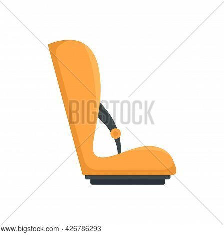 Baby Car Seat Icon. Flat Illustration Of Baby Car Seat Vector Icon Isolated On White Background