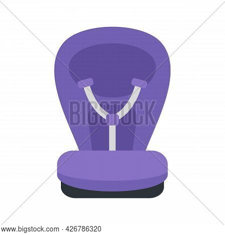 Safety Baby Car Seat Icon. Flat Illustration Of Safety Baby Car Seat Vector Icon Isolated On White B
