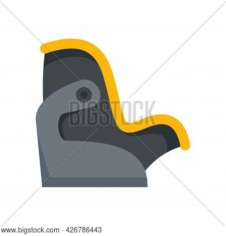 Kid Car Seat Icon. Flat Illustration Of Kid Car Seat Vector Icon Isolated On White Background