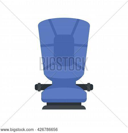 Restraint Baby Car Seat Icon. Flat Illustration Of Restraint Baby Car Seat Vector Icon Isolated On W