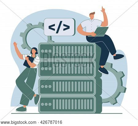 Commercial Software Abstract Concept Vector Illustration. Mobile Application Development, Ecommerce