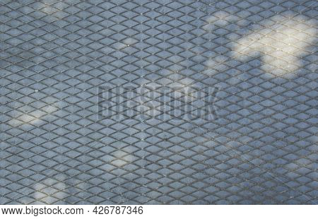 Concrete Slab. Drawing Of Diamonds. The Texture Of The Concrete Slab. Gray Background