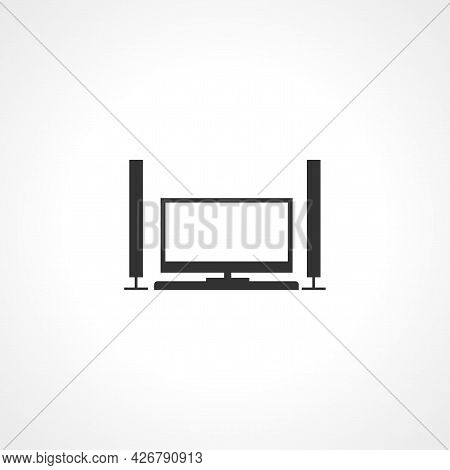 Home Theater Icon. Home Theater Isolated Simple Vector Icon