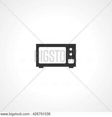 Microwave Icon. Microwave Isolated Simple Vector Icon