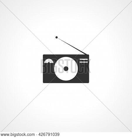 Radio Icon. Radio Isolated Simple Vector Icon