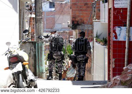 Slum Area Police Operation