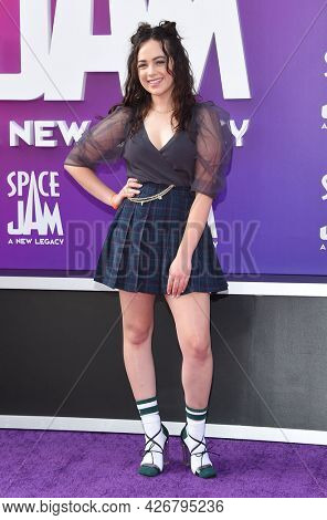 LOS ANGELES - JUL 12: Mary Mouser arrives for the 'Space Jam: A New Legacy' World Premiere on July 12, 2021 in Los Angeles, CA