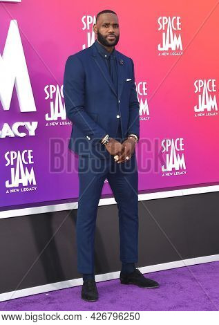 LOS ANGELES - JUL 12: LeBron James arrives for the 'Space Jam: A New Legacy' World Premiere on July 12, 2021 in Los Angeles, CA