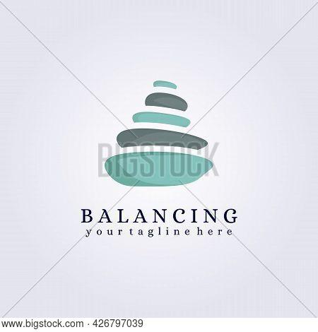 Zen Stone Spa Salon Logo Vector Illustration Design Therapy Relax