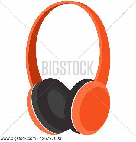 Headset Icon, Headphones Vector, Head Music Audio Earphone