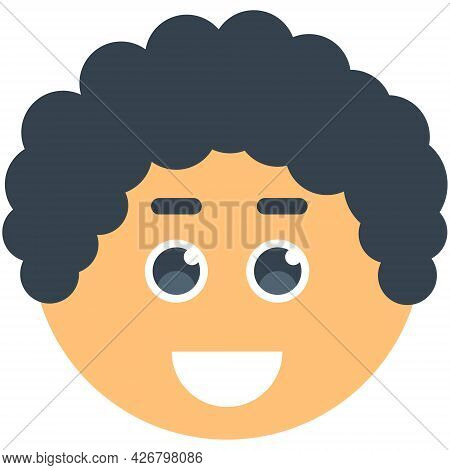 Avatar Face Smiling Man. Vector Illustration. Male Cartoon Icons. Flat Vector Illustration
