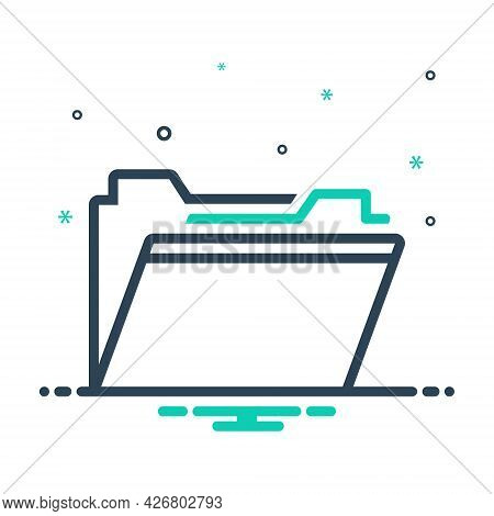 Mix Icon For Folder Files Dossier Document Storage Archive Open