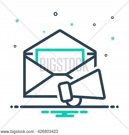 Mix Icon For E-mail-marketing  Email Promotion Loudspeaker Megaphone Publicity Communication Corresp