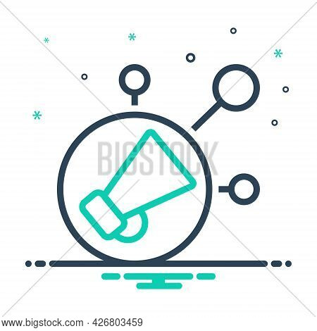 Mix Icon For Viral-marketing Viral Marketing Megaphone Advertisement Influence Campaign Conceptual I