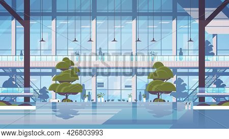 Modern Hospital Building Exterior Empty No People Medical Clinic Center Medicine Healthcare Concept