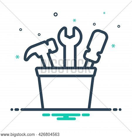 Mix Icon For Tools Toolbox Hand-tool Equipment Instrument Design-creativity Exhibit Appliance Appara