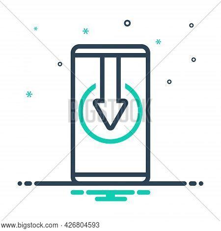 Mix Icon For Install Electronic Gadget Wireless Touchscreen App Technology Smartphone Plugin Downloa