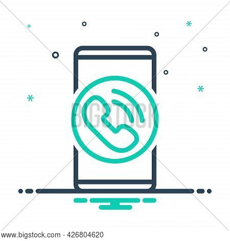 Mix Icon For Phone Cell Mobile App Technology Smartphone Electronic Gadget Wireless Touchscreen Comm