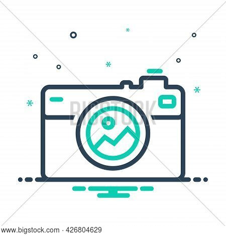Mix Icon For Pictures Camera Image Photography Pictogram Digital Technology Focus