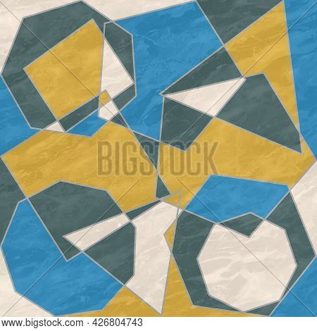 Abstract Prints, Creative Tile Surface. Polygons, Abstract Background. Modern Mosaic Wallpaper. Art