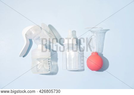 Electric And Manual Breast Pump For Breast Feeding And Bottle With Nipple