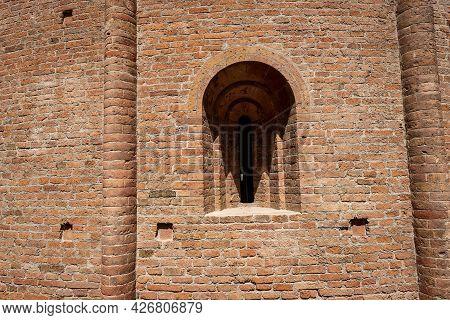 Mantua, Close-up Of The Medieval Church Called Rotonda Di San Lorenzo In Romanesque Style (1083-xi C