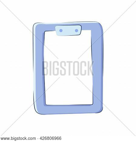 Clipboard With A Sheet Of Paper Isolated On A White Background. To-do List Icon, Vector Icon In Cart