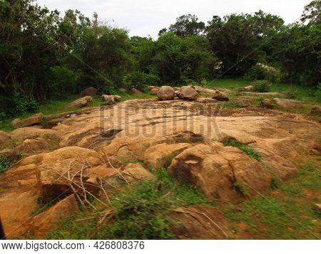 Yala, Sri Lanka - 09 Jan 2011: Rocks In Yala National Park, Sri Lanka