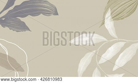 Tropical leafy background illustration and wllpaper