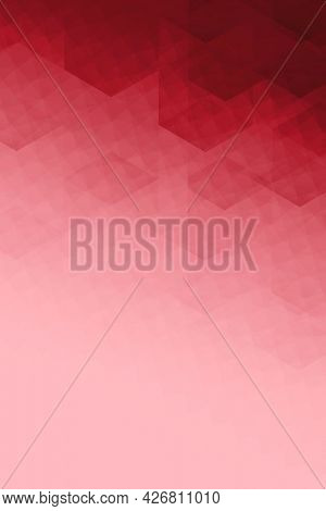 Ombre red mosaic background illustration