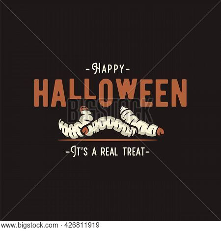 Maggot Or Nasty Grub, Worm For Halloween Print