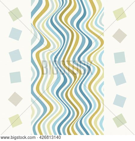 Creative Background With Stripes. Decorative Design With Distorted Op Art Effect.