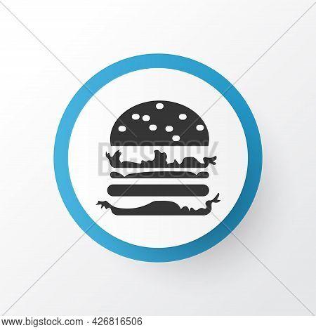 Double Burger Icon Symbol. Premium Quality Isolated Hamburger Element In Trendy Style.