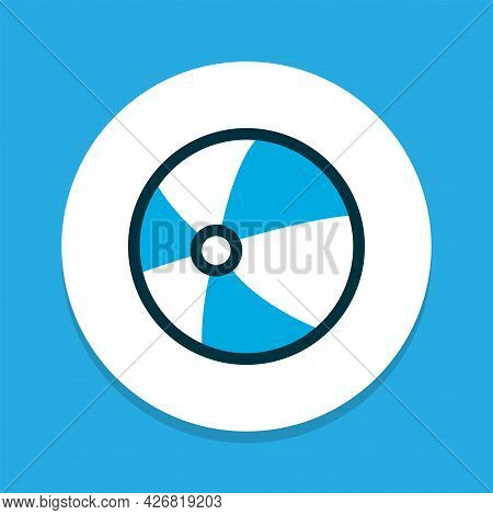Balloon Icon Colored Symbol. Premium Quality Isolated Ball Element In Trendy Style.