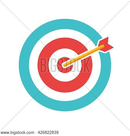 Darts, Circle For Playing Darts Isolated On White Background. Vector, Cartoon Illustration. Vector.