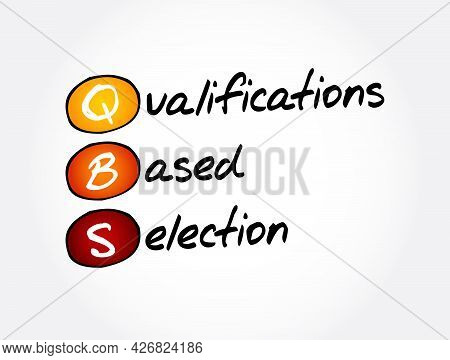 Qbs - Qualifications Based Selection Acronym, Business Concept Background