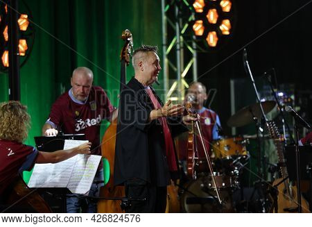 Cracow, Poland - July 10, 2021: Nigel Kennedy Live At 26rd Edition Of The Summer Jazz Festival In Kr