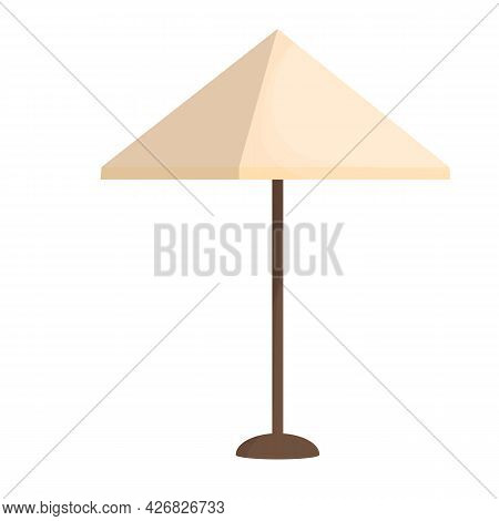 Garden, Park Parasol In Cartoon Style Isolated On White Background. Backyard Furniture, Equipment Fo