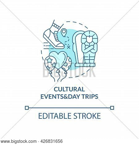 Cultural Events And Day Trips Concept Icon. Internship Program Abstract Idea Thin Line Illustration.