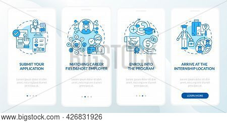 Internship Abroad Procedure Onboarding Mobile App Page Screen. Submit Application Walkthrough 4 Step
