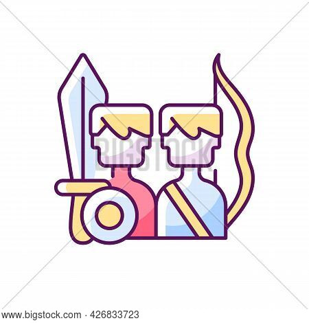 Multiplayer Online Battle Arena Game Rgb Color Icon. Isolated Vector Illustration.. Strategy Genre W