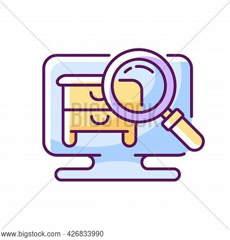 Hidden Object Game Rgb Color Icon. Isolated Vector Illustration.. Intelectual Activities For Spendin