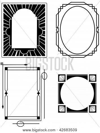 Four Art Deco Frames