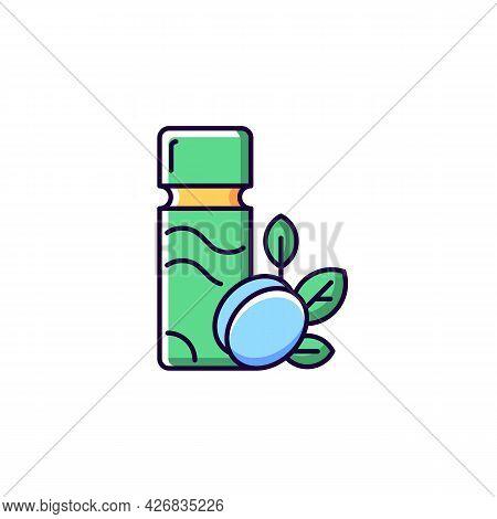 Plum Wine Rgb Color Icon. Isolated Vector Illustration. Sugar Alcohol Green Plum Liqueur. Taiwanese