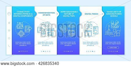 Technology Characteristics Onboarding Vector Template. Responsive Mobile Website With Icons. Web Pag