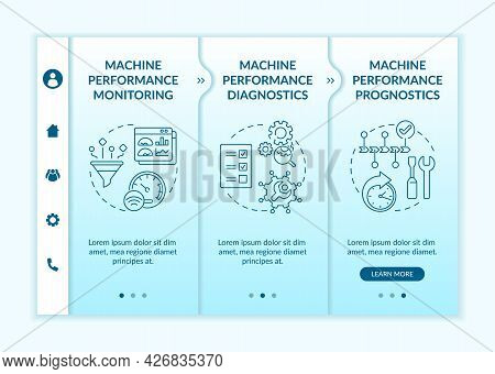 Digital Ai Tasks Onboarding Vector Template. Responsive Mobile Website With Icons. Web Page Walkthro