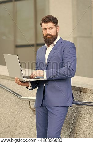 Be Exclusive. Handsome Guy Wear Expensive Office Jacket. Agile Business. Be Always Online. Confident