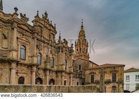 Santiago De Compostela, Spain. Place Of Immaculate In Santiago De Compostela. Santiago De Compostela