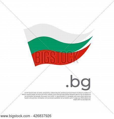 Bulgaria Flag. Stripes Colors Of The Bulgarian Flag On A White Background. Vector Design National Po