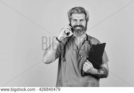 Man Doctor. Coronavirus Outbreak. Treatment Relieve Symptoms Body Fights Infection. Coronavirus Conc